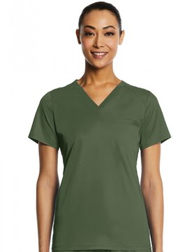 MATRIX IMPULSE Olive Green Eon Sport Women's Top 1778 Large