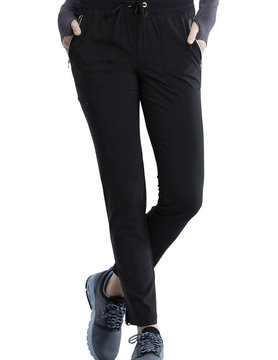 CHEROKEE Cherokee Black Pull-On Women's Scrub Pants CK135A-BAPS-XL