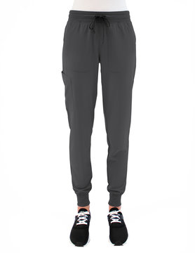 MATRIX IMPULSE Pewter Grey Yoga Waistband Petite Women's Jogger Pants 8520P