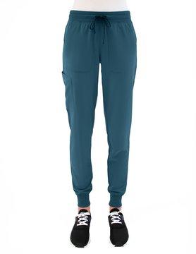 MATRIX IMPULSE Caribbean Blue Yoga Waistband Petite Women's Jogger Pants 8520P