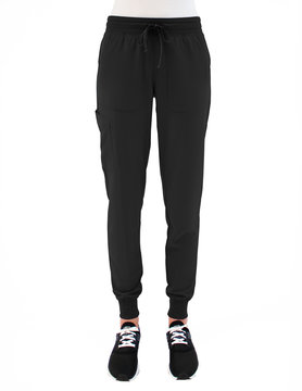 MATRIX IMPULSE Black Yoga Waistband Tall Women's Jogger Pants 8520T