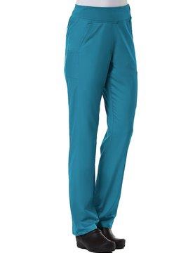 Teal Blue Pure Yoga 7-Pocket Women's Scrub Pants 7338