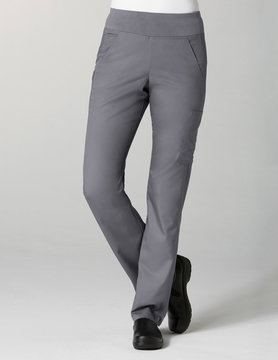 Pewter Grey Pure Yoga 7-Pocket Petite Women's Scrub Pants 7338P