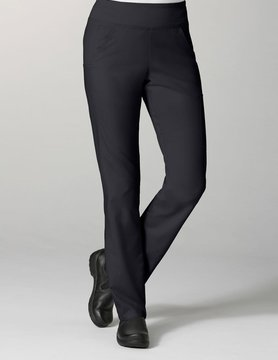 Black Pure Yoga 7-Pocket Tall Women's Scrub Pants 7338T