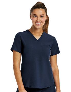MATRIX IMPULSE Matrix Impulse Navy Blue Women's Tucked-In Scrub Top  4530