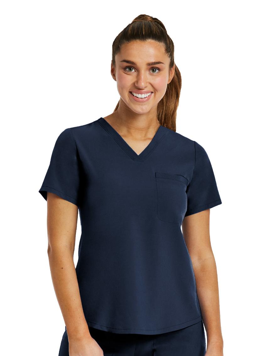 MATRIX IMPULSE Navy Blue Matrix Impulse Women's Tucked-In Top  4530