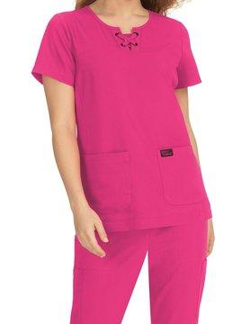 Betsy Johnson Betsy Johnson Pink Clover Women's  Scrub Top B110-058