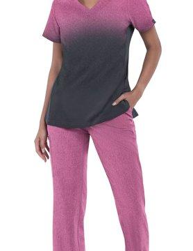 Koi Basics Koi Basics Cali Heather Azalea Women's  Scrub Top 1031PR-HA77