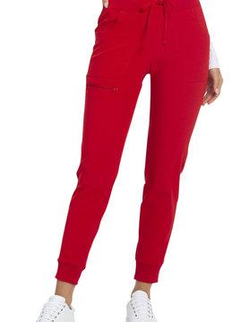 HEART SOUL Heart Soul Red Women's Tall Jogger Scrub Pants HS030T-RDHH