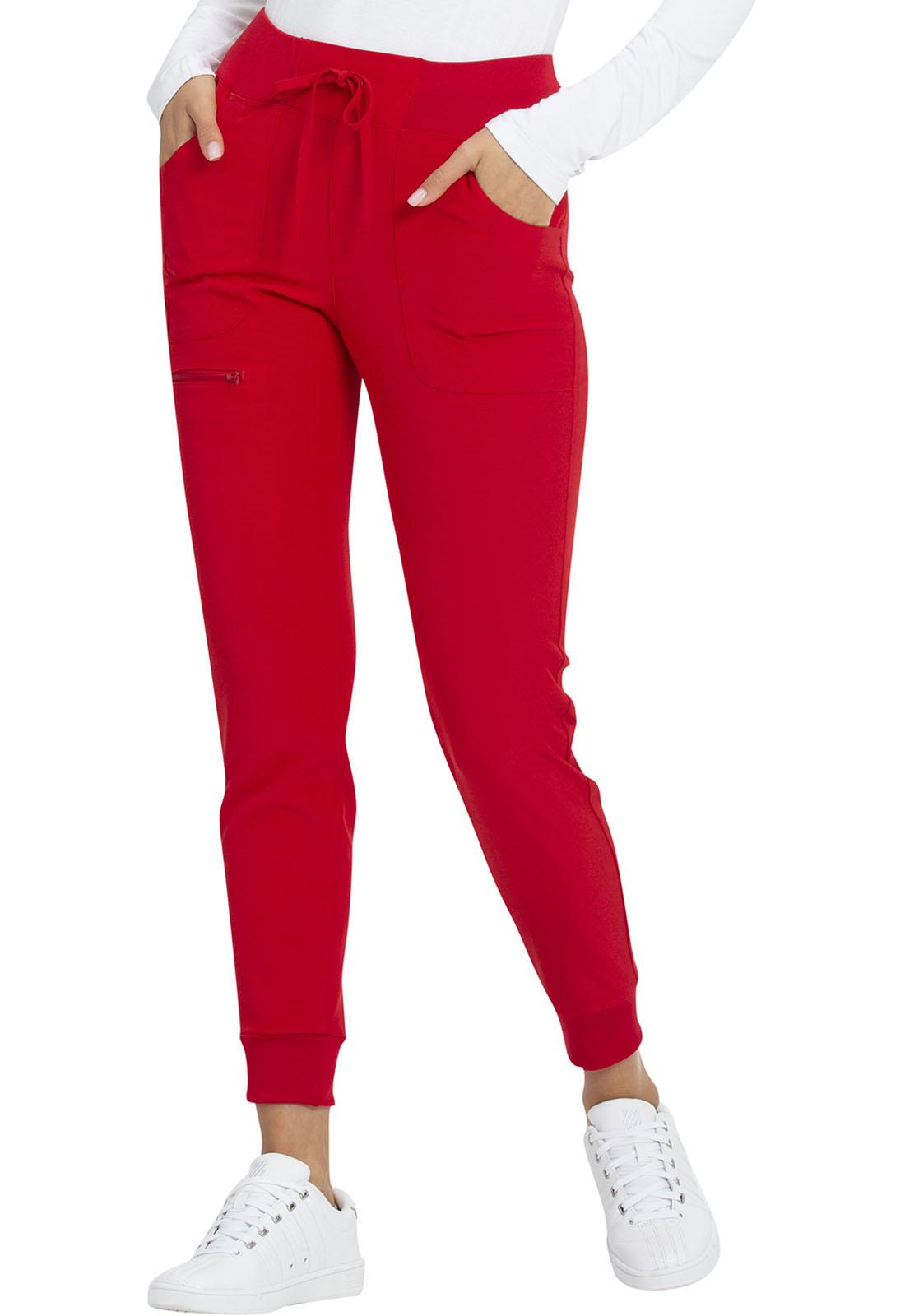 HEART SOUL Red Women's Tall Jogger Scrub Pants HS030T-RDHH