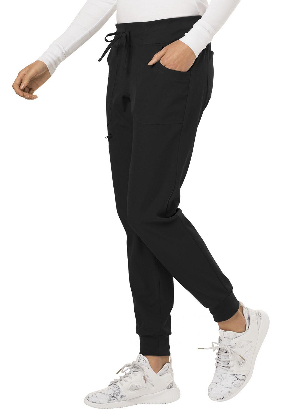 HEART SOUL Black Women's Jogger Scrub Pants HS030-BCKH