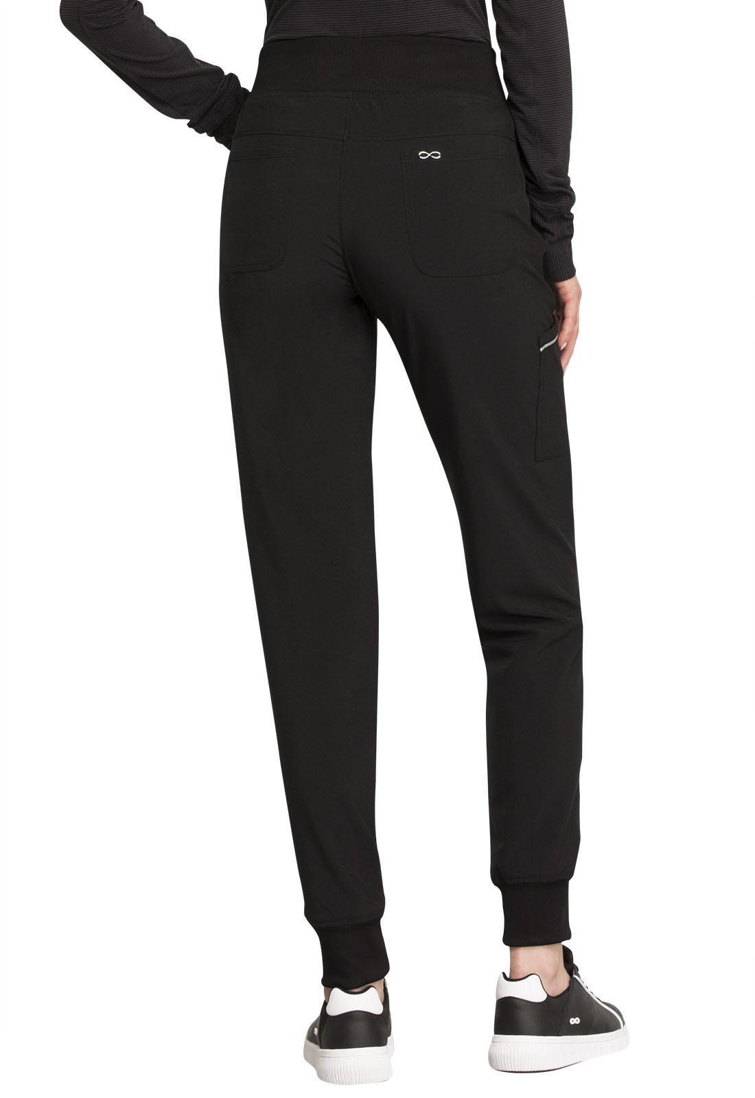 CHEROKEE Mid Rise Tall Women's Black Jogger Scrub Pants CK110AT-BAPS
