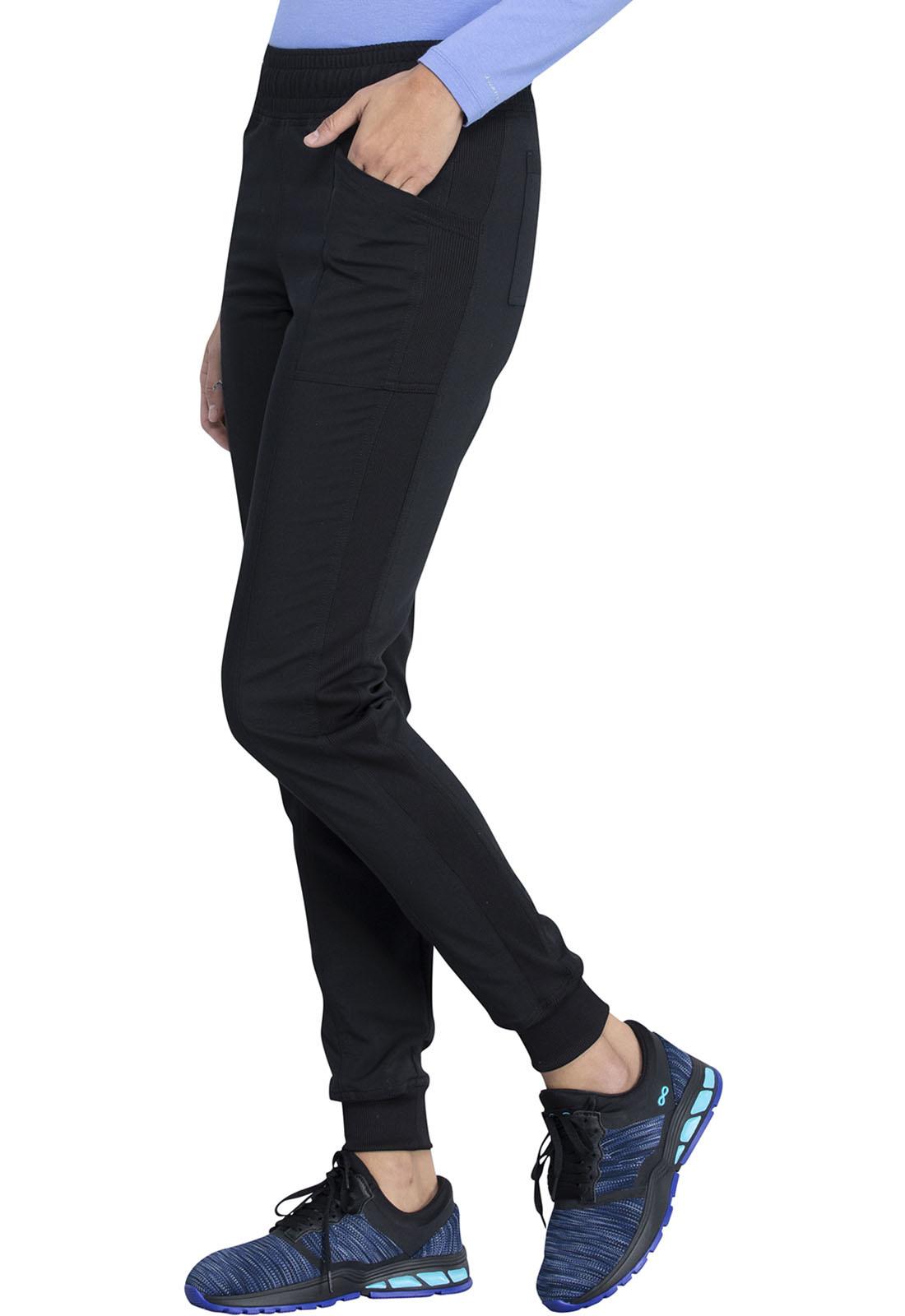 DICKIES Mid Rise Tall Women's Jogger Scrub Pants Black DK155T-BLK