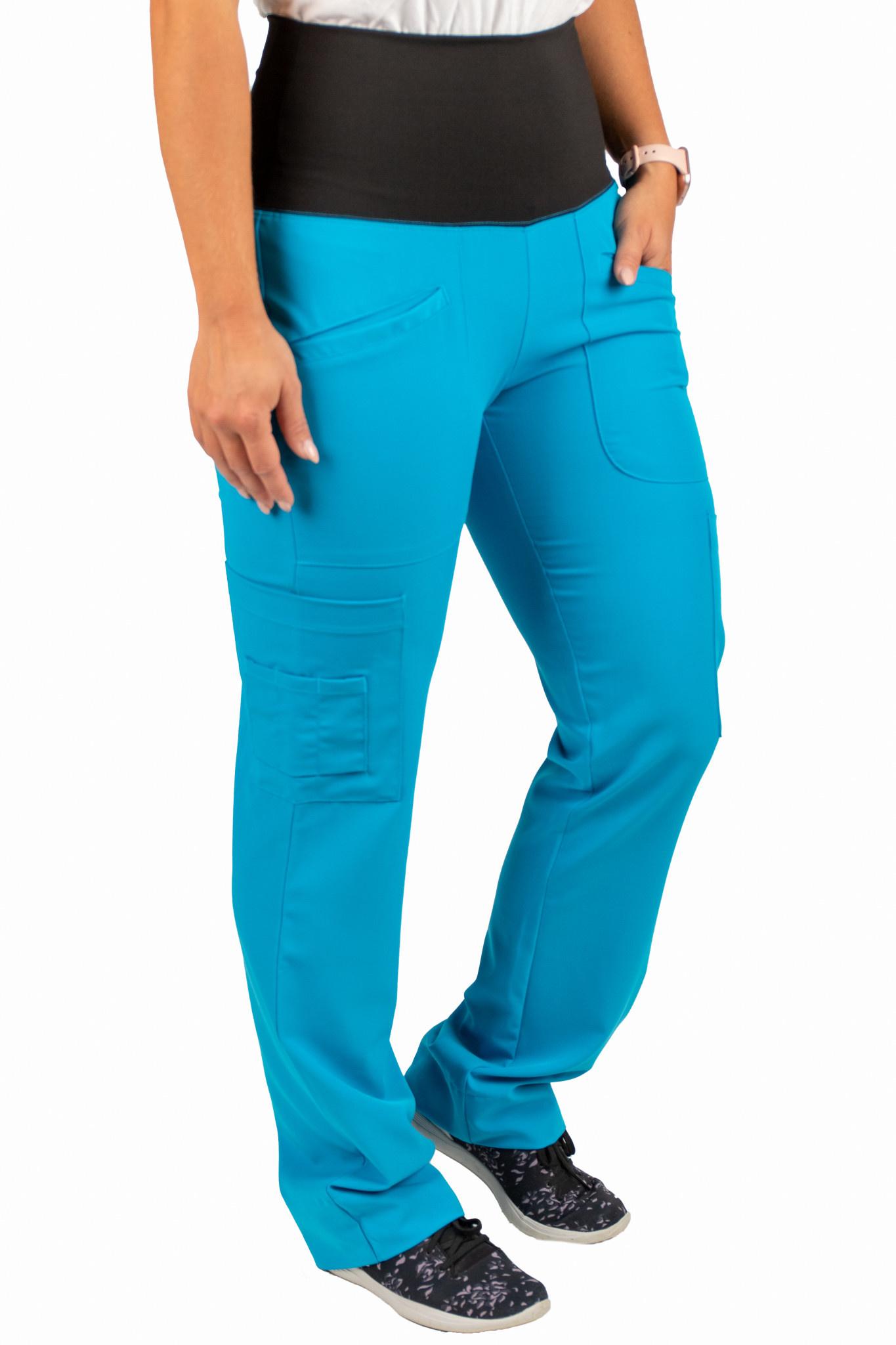 Jewel Blue Women's Yoga Waistband Pants 985