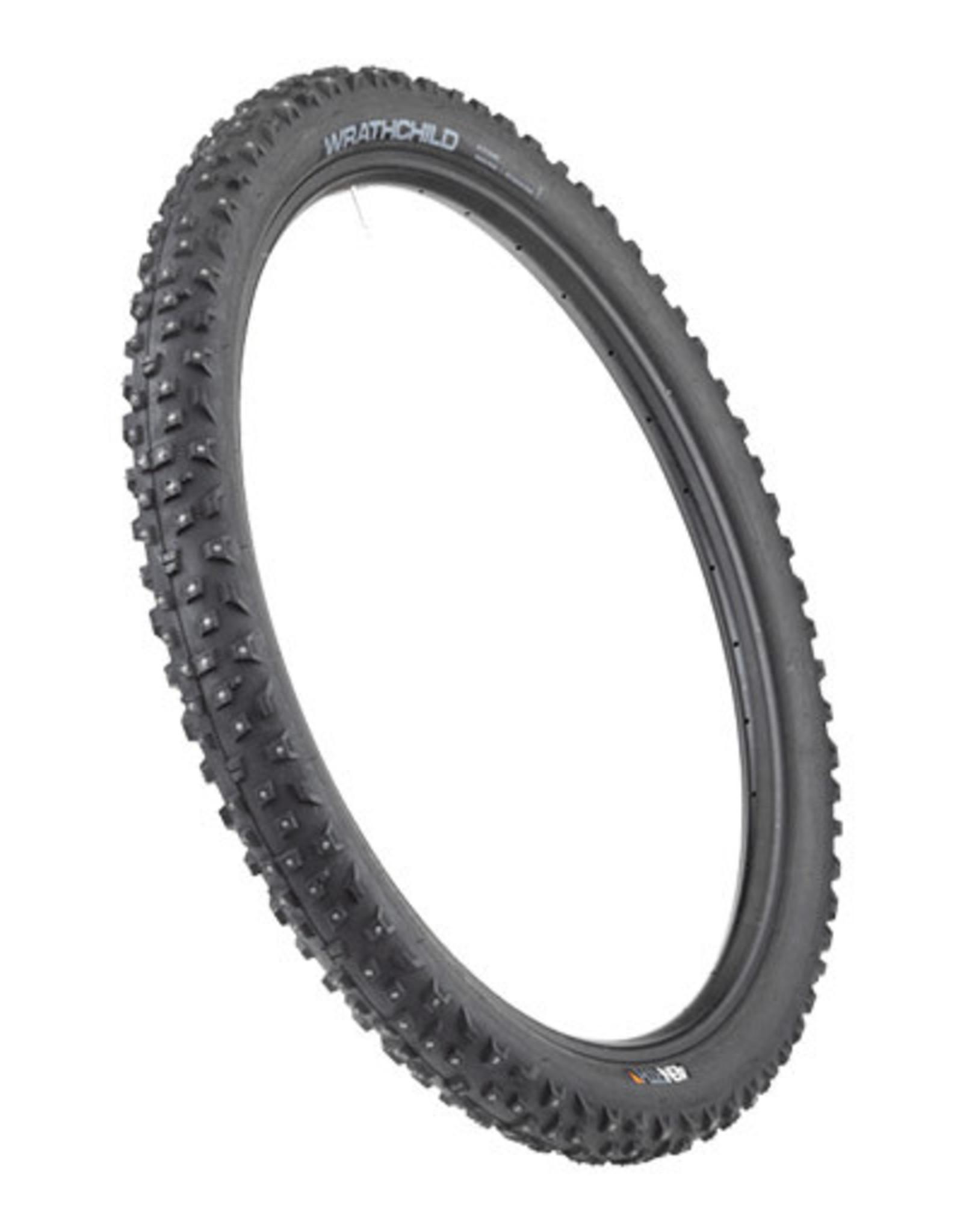 45NRTH 45NRTH Wrathchild Tire - 29 x 2.6, Tubeless, Folding, Black, 120tpi, 252 XL Concave Carbide Aluminum Studs
