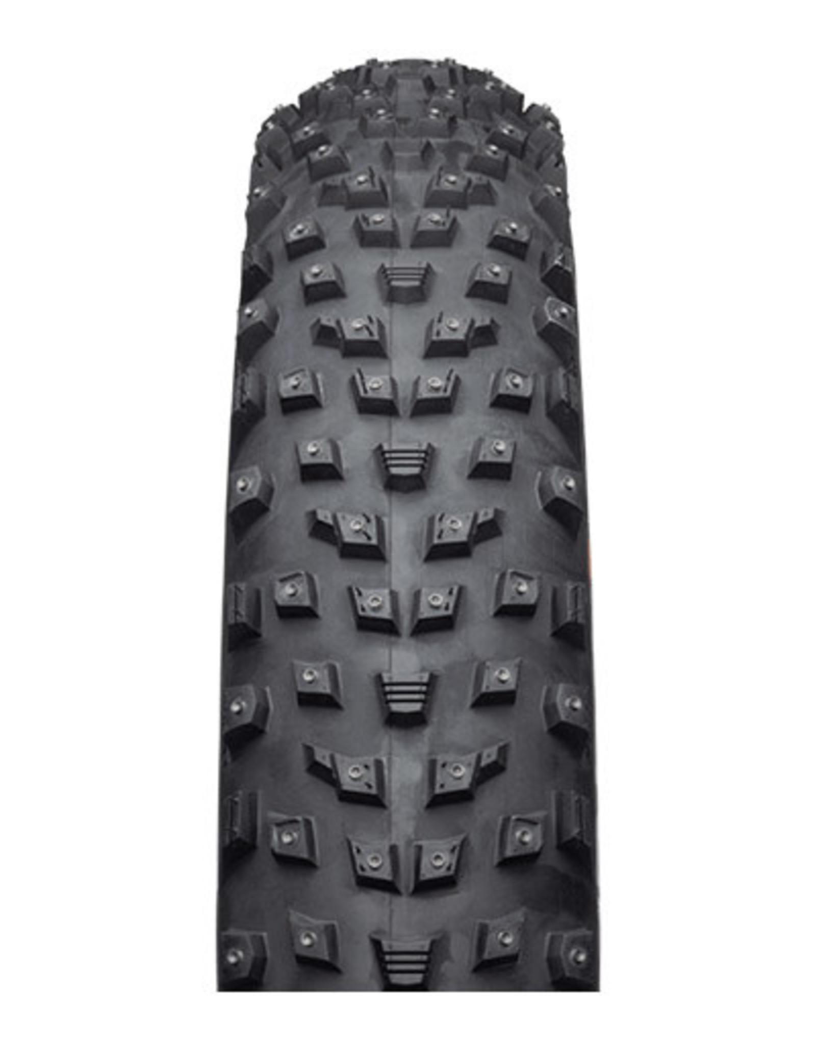 45NRTH 45NRTH Wrathlorde Tire - 26 x 4.2, Tubeless, Folding, Black, 120tpi, 300 XL Concave Carbide Aluminum Studs