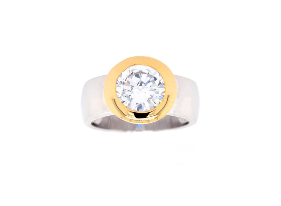 GOLD & SILVER TWO TONE RING