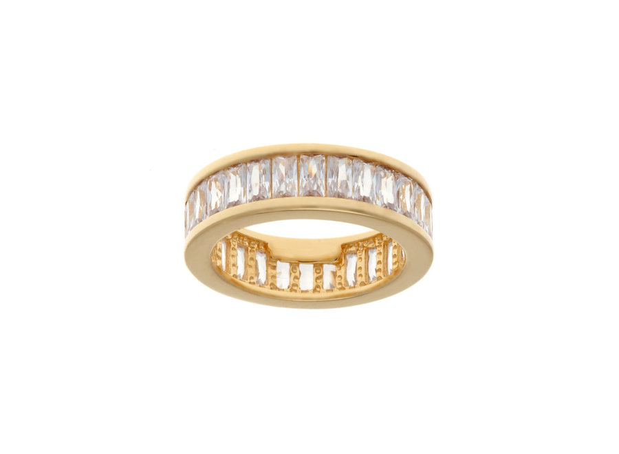 GOLD BAGUETTE RING (R163-GP)