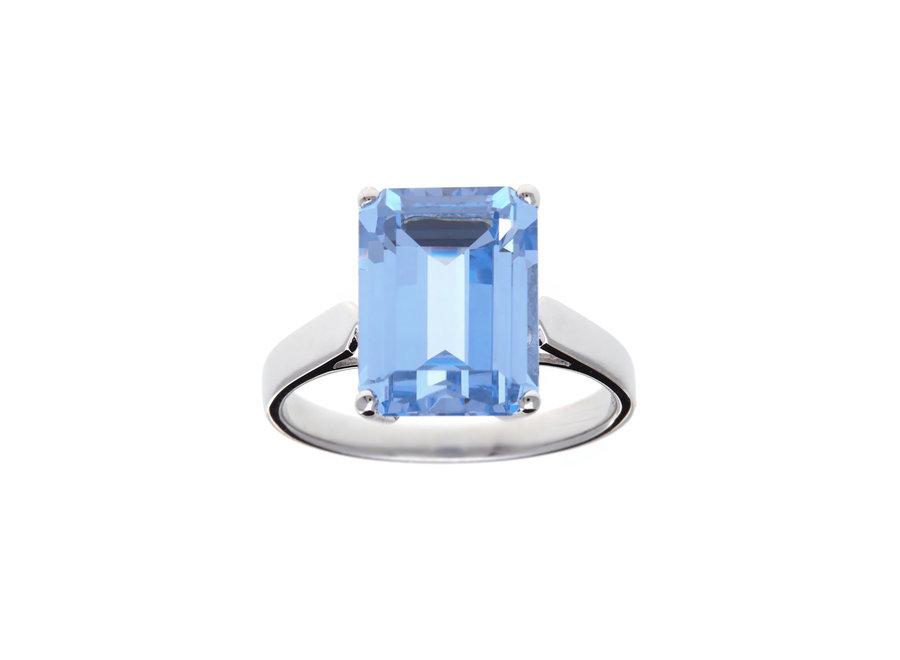 ADA BLUE CUBIC ZIRCONIA RING