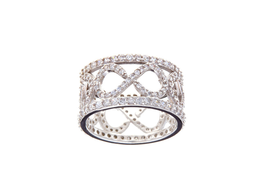 SILVER FINE MICROPAVE DRESS RING