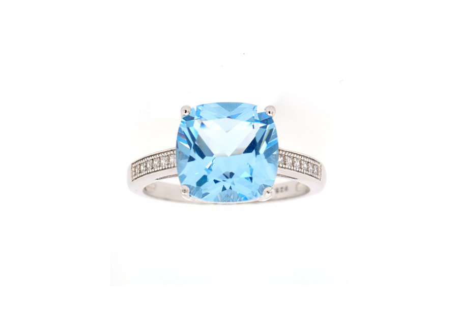SKYLA BLUE CUBIC ZIRCONIA RING