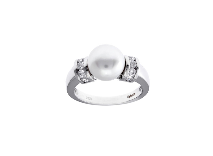 SILVER FRESHWATER PEARL DRESS RING