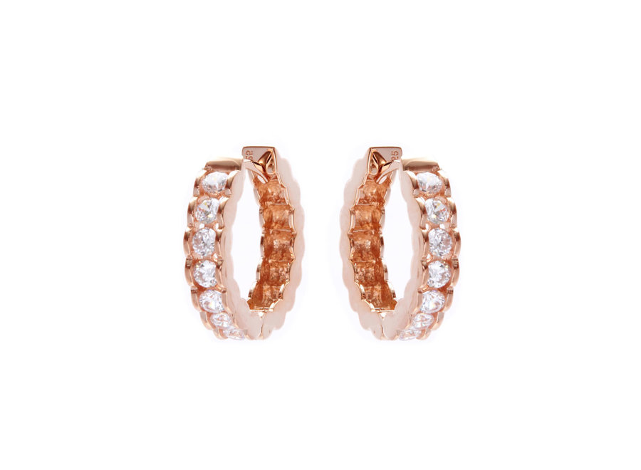 ROSE GOLD HOOP EARRINGS (E46-RG)
