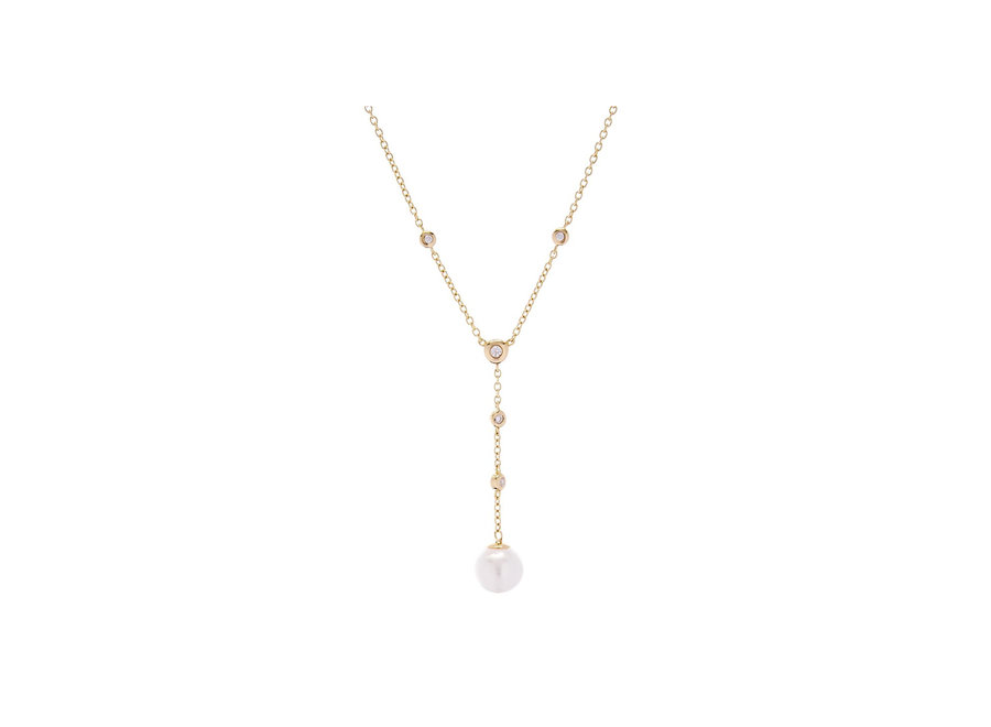 ISSY PEARL DROP GOLD NECKLACE (N781-GP)