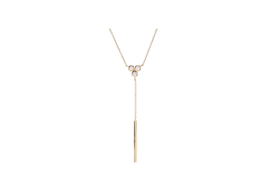 JADE GOLD DROP NECKLACE (N517-GP)