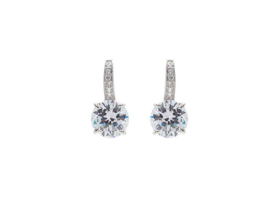 CLAW SET CUBIC ZIRCONIA EARRINGS