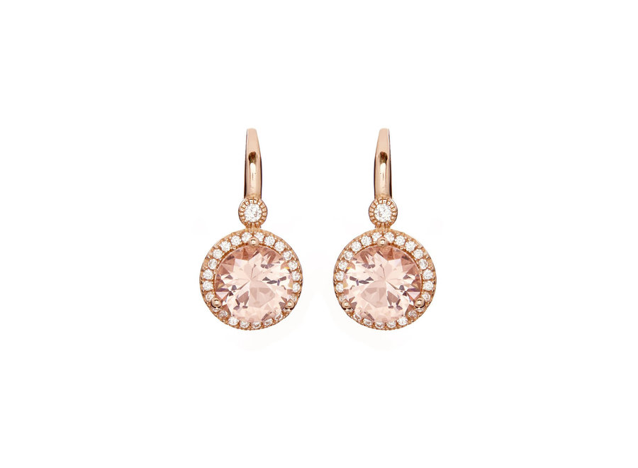 LULU PINK EARRINGS ON ROSE GOLD FRENCH HOOK