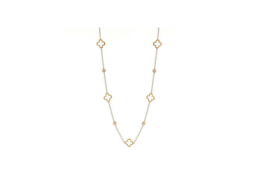 HOLLOW FLOWER GOLD NECKLACE (N24-GP)