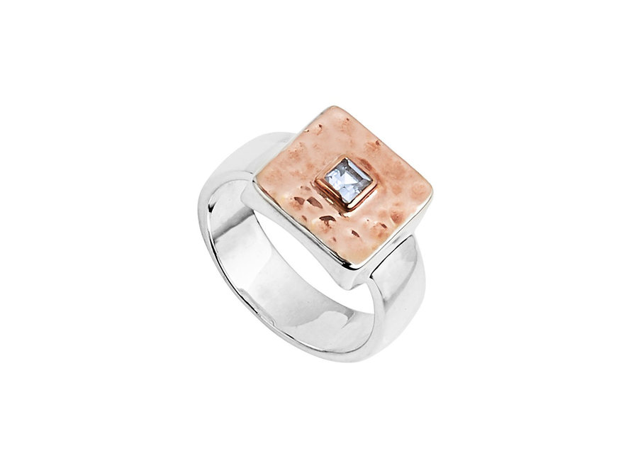 TRIBUTE RING SILVER / ROSE GOLD