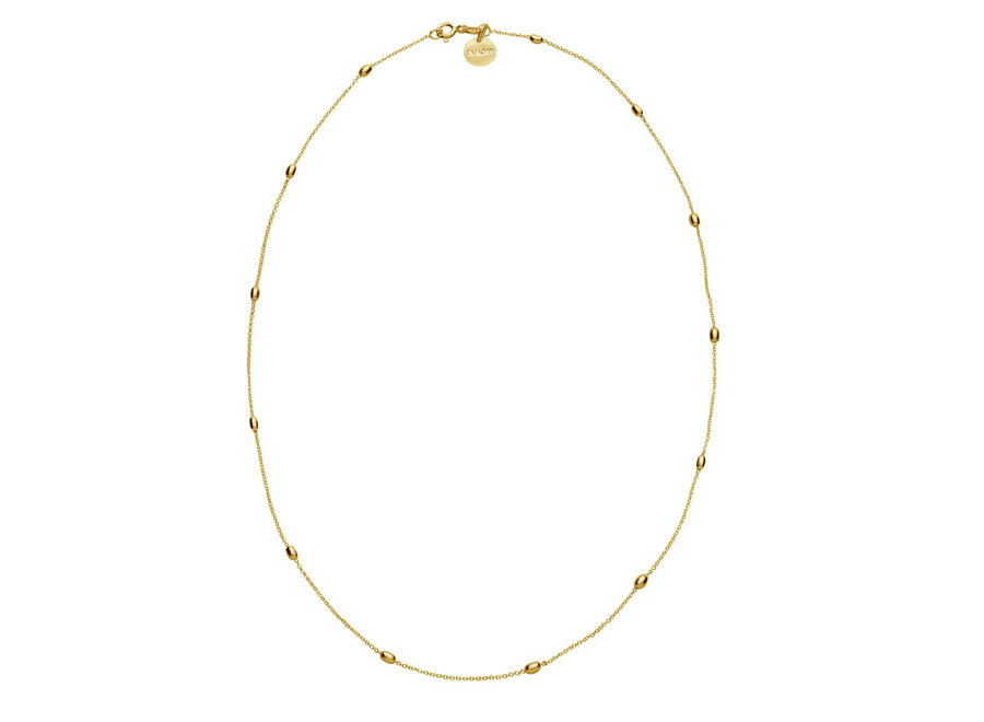 LIKE A BREEZE NECKLACE YELLOW GOLD 45CM