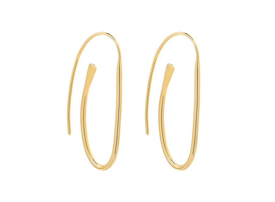PAPERCLIP EARRING YELLOW GOLD