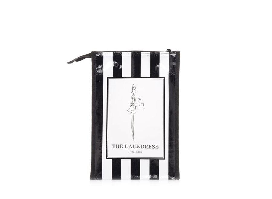 THE LAUNDRESS BLACK & WHITE STRIPED GIFT BAG