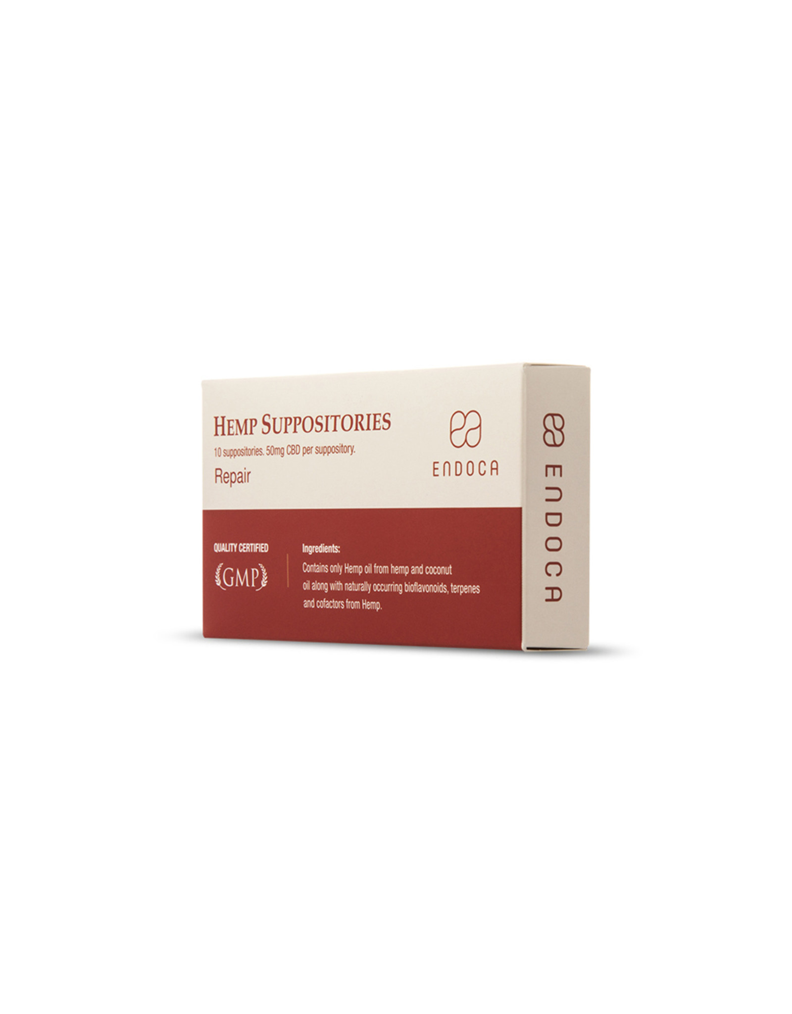Endoca Endoca Hemp Suppositories 10ct 50mg