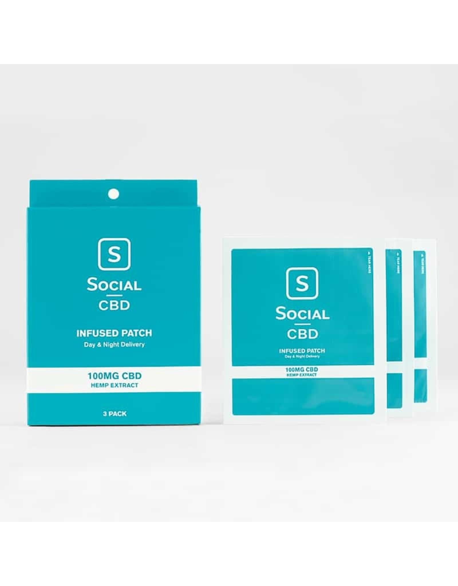 social cbd 100mg patch 3 pack