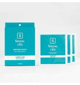 social cbd 100mg patch 3 pack