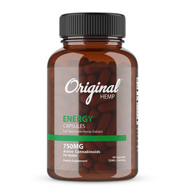 Original hemp energy capsules 750mg 60cp