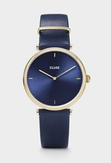 Cluse Montre Triomphe Cuir Bleu