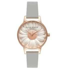 Olivia burton Montre 3D Daisy Grey & Rose