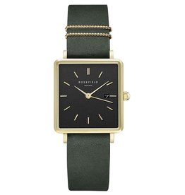 Rosefield Montre Boxy Cuir Forêt