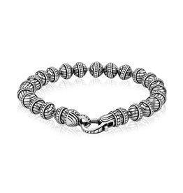 A.R.Z Steel Bracelet - Billes 6mm en acier inoxydable