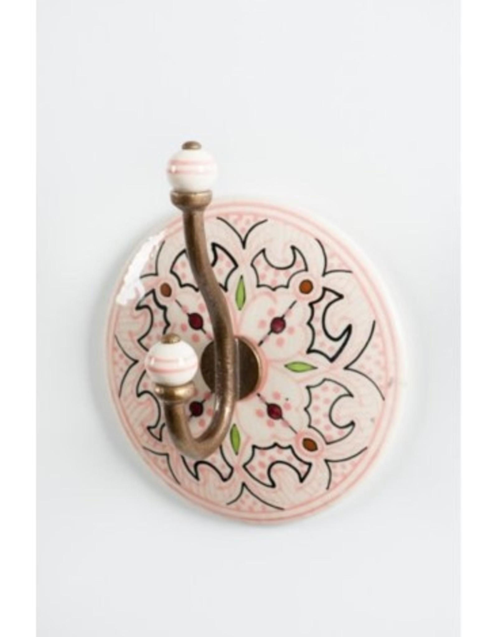 Crochet Céramique Rose