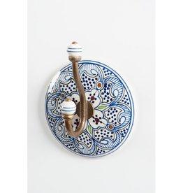 Crochet Céramique Bleu