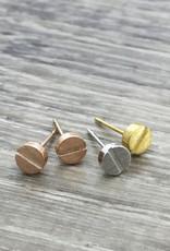 Fab accessories Boucle d'oreilles - Vis en acier inoxydable