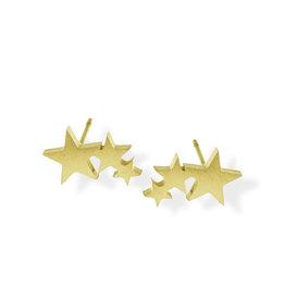 Fab accessories Boucle d'oreilles - Coeur triple en acier inoxydable or