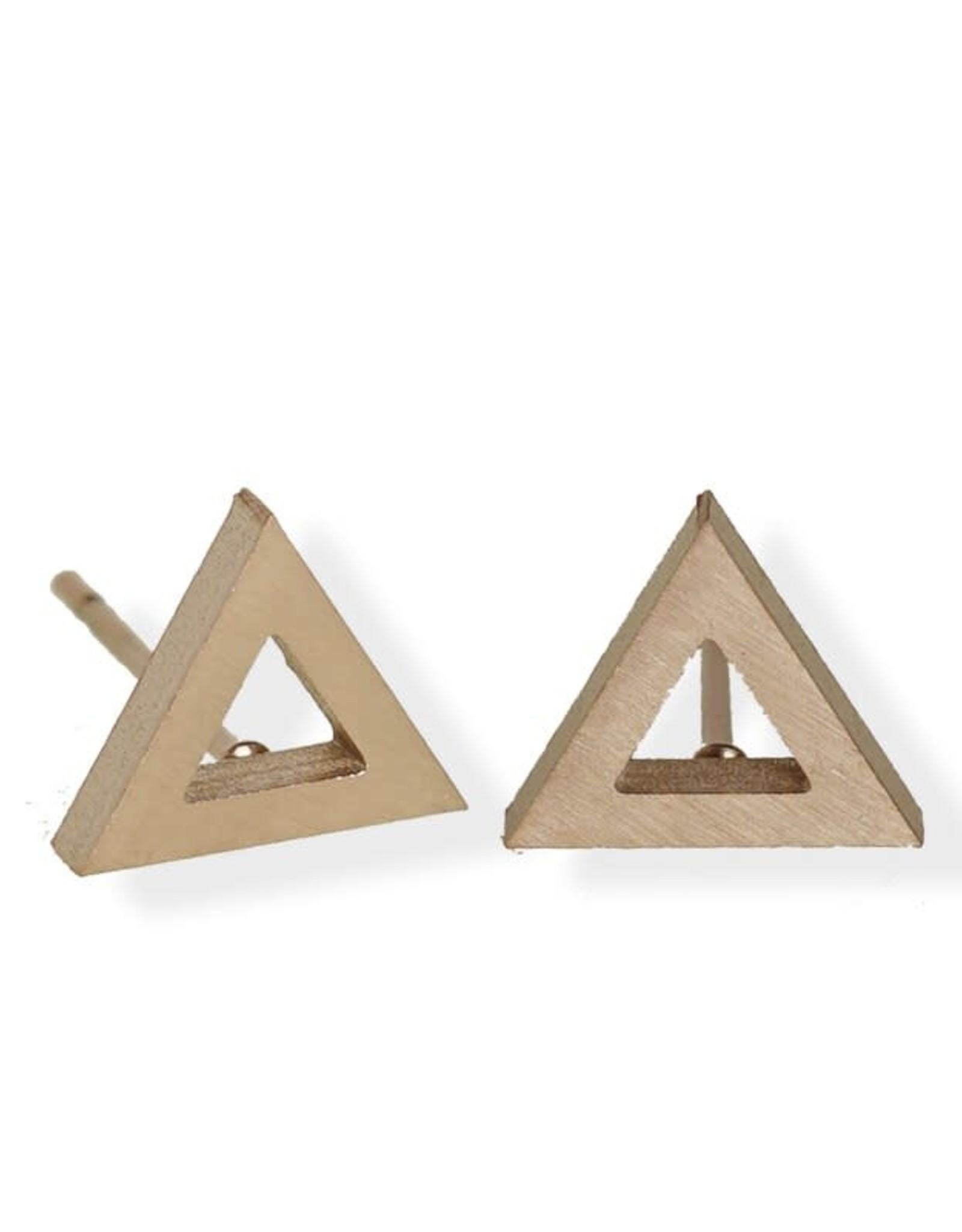 Fab accessories Boucle d'oreilles - Triangle en acier inoxydable