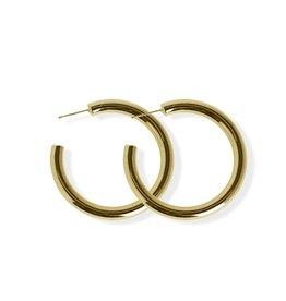 Fab accessories Boucle d'oreilles - Anneaux en acier inoxydable or